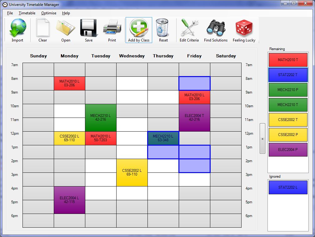 how to find timetable on d2l